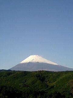 今日の富士山は